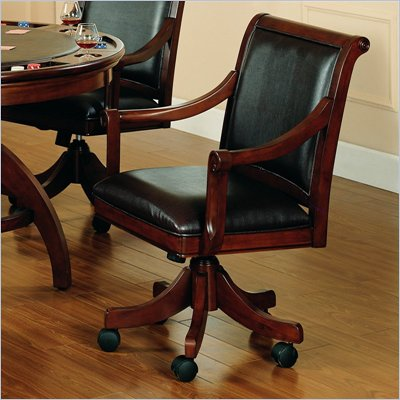 Hillsdale Palm Springs Game Chair in Medium Brown Cherry