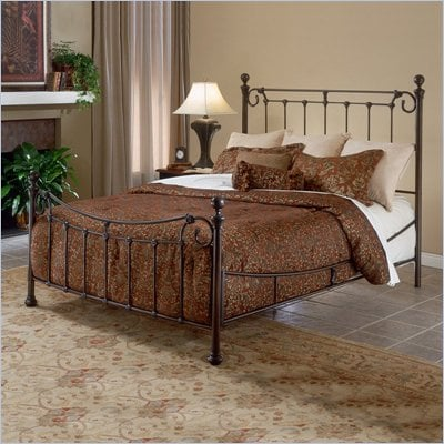 Hillsdale Riverside Metal Poster Bed in Antique Bronze Finish