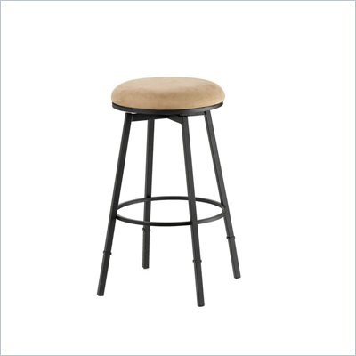 Hillsdale Sanders Black Adjustable Backless Bar Stool