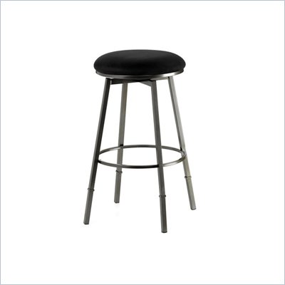 Hillsdale Sanders Pewter Adjustable Backless Bar Stool