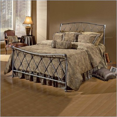Hillsdale Silverton Metal Sleigh Bed in Bronze Pewter Finish
