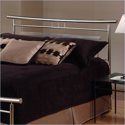 Hillsdale Soho Metal Headboard in Brushed Nickel