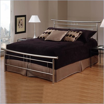 Hillsdale Soho Metal Panel Bed in Brushed Nickel Finish