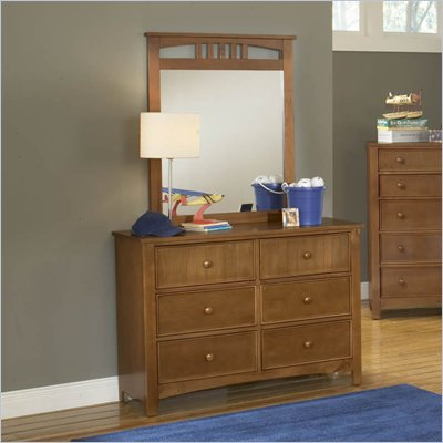 Hillsdale Taylor Falls Dresser and Mirror Set in Pine Finish