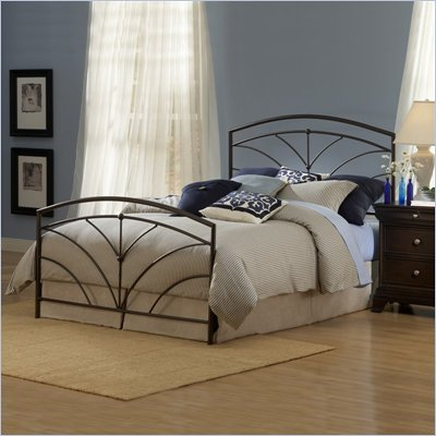 Hillsdale Thompson Metal Panel Bed in Bronze