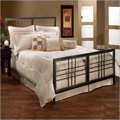 Hillsdale Tiburon Pewter Metal Bed 5 Piece Bedroom Set