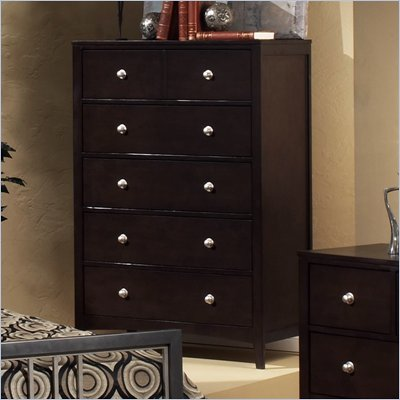 Hillsdale Banyan-Brookland-Tiburon 5 Drawer Chest in Espresso Finish