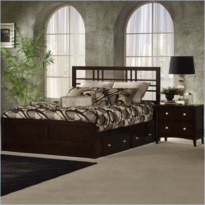 Hillsdale Tiburon Kona Storage Espresso 2 Piece Bedroom Set
