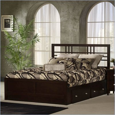 Hillsdale Tiburon Kona 4 Piece Bedroom Set in Espresso
