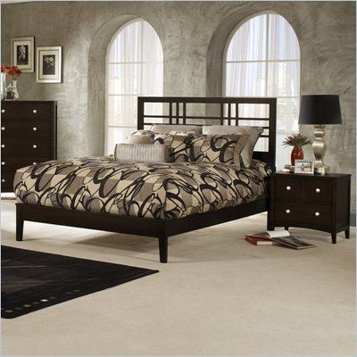Hillsdale Tiburon Kona Platform Espresso 2 Piece Bedroom Set