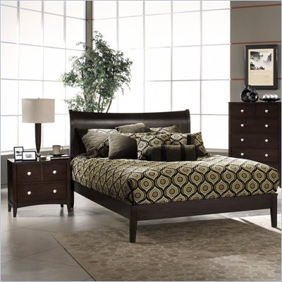 Hillsdale Tiburon Bentwood Platform Espresso 2 Piece Bedroom Set