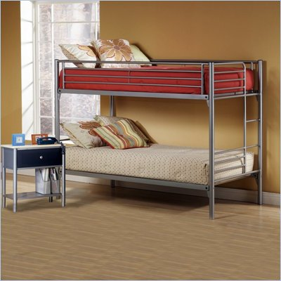 Hillsdale Universal Youth Metal Bunk Bed 5 Piece Bedroom Set
