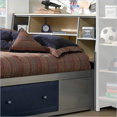 Hillsdale Universal Youth Metal Bookcase Headboard in Silver