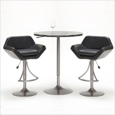 Hillsdale Valencia 3 Piece Pub Table Set with Bar Stools in Oyster Grey