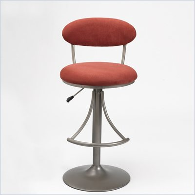 Hillsdale Venus 24 Inch to 30 Inch Swivel Bar Stool in Flame Finish