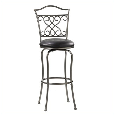 Hillsdale Wayland 24'' Swivel Counter Stool in Dark Pewter