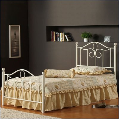 Hillsdale Westfield Metal Poster Bed in Off White