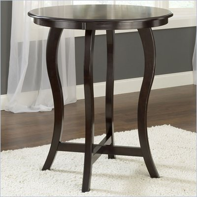 Hillsdale Wilmington Round Bar Height Table in Cappuccino