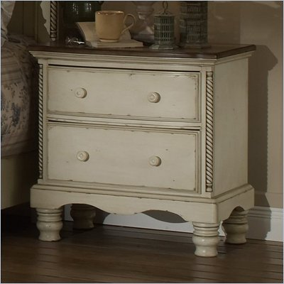 Hillsdale Wilshire Antique White Nightstand