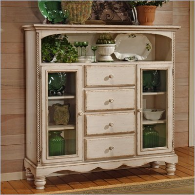 Hillsdale Wilshire Antique White Buffet Cabinet
