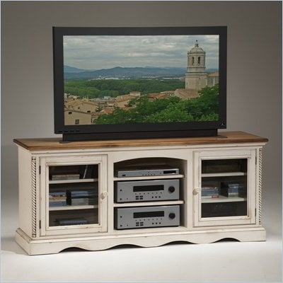 Hillsdale Wilshire Plasma/LCD White TV Stand