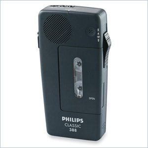 Philips PM388 Mini Cassette Voice Recorder