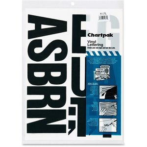 Chartpak Press-On Vinyl Uppercase Letters