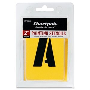 Chartpak Painting Letters &amp; Numbers Stencil