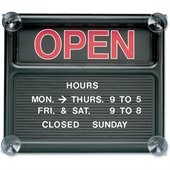 Quartet Open/Closed Sign