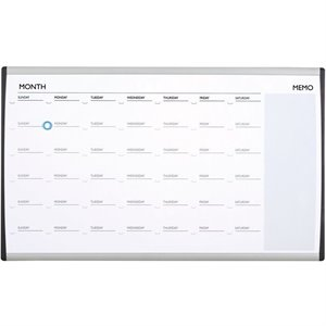 Quartet Magnetic Dry-Erase/Cork Calendar Frame