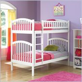 Atlantic Furniture Richmond Twin over Twin Wood Bunk Bed