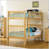 Atlantic Furniture Arizona Wood Twin over Twin Bunk Bed