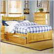 ADD TO YOUR SET: Atlantic Furniture Manhattan Platform Bed with Matching Footboard in Natural Maple