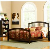 Atlantic Furniture Windsor Platform Bed with Matching Footboard in Antique Walnut