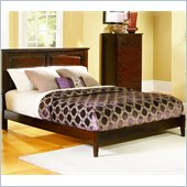 Atlantic Furniture Monterey Platform Bed with Open Footrail in Antique Walnut