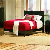 Atlantic Furniture Miami Modern Platform Bed with Open Footrail in Espresso