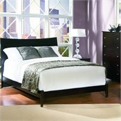 Atlantic Furniture Milano Platform Bed with Open Footrail in Espresso Finish