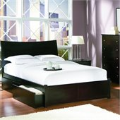 Atlantic Furniture Milano Platform Bed with Flat Panel Footboard in Espresso Finish