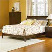 Atlantic Furniture Bordeaux Platform Bed with Open Footrail in Antique Walnut