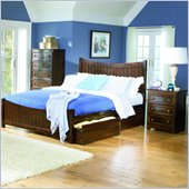 Atlantic Furniture Manhattan Platform Bed with Matching Footboard 2 Piece Bedroom Set