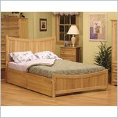 Atlantic Furniture Manhattan Natural Maple Platform Bed w/ Matching Footboard 5 Pc Bedroom Set