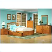 Atlantic Furniture Windsor Platform Bed with Flat Panel Footboard 2 Piece Bedroom Set