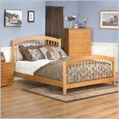 Atlantic Furniture Windsor Wood Platform Bed with Matching Footboard 5 Piece Bedroom Set