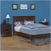Atlantic Furniture Monterey Platform Bed with Open Footrail 2 Piece Bedroom Set