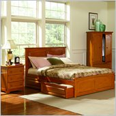 Atlantic Furniture Monterey Platform Bed with Raised Panel Footboard 2 Piece Bedroom Set