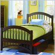 ADD TO YOUR SET: Atlantic Furniture Windsor Twin Platform Bed with Double Arch Footboard