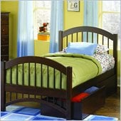 Atlantic Furniture Windsor Twin Platform Bed with Double Arch Footboard