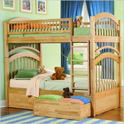 Atlantic Furniture Windsor Twin over Twin Wood Bunk Bed