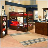 Atlantic Furniture Windsor Twin over Twin Bunk Bed 4 Piece Bedroom Set
