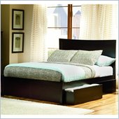 Atlantic Furniture Miami Wood Platform Bed with Flat Panel Footboard 4 Piece Bedroom Set